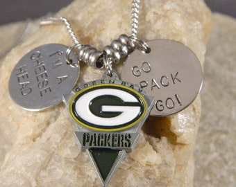 """Packer Pendant I""""m a Cheesehead Necklace"""