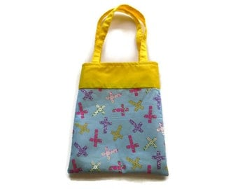 Small Fabric Easter Gift Bag/Goodie Bag - Religious - Crosses