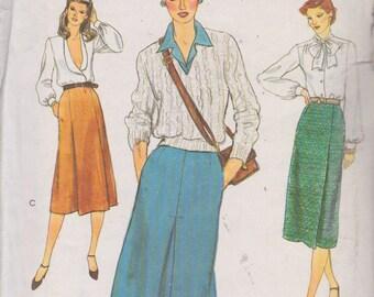 Vogue 7548 Misses' Skirt Size 12 Vintage UNCUT Pattern Rare and OOP Easy Pattern