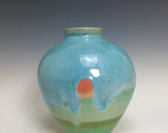 Florida Keys Back Country; Hand Thrown Vase; Island Style; Functional Fine Art Ceramics.