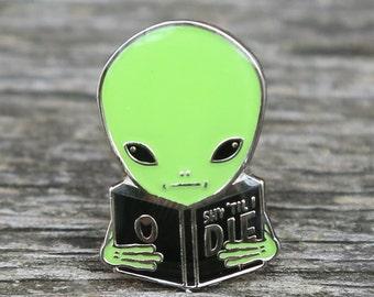Shy Guy Alien Lapel Pin