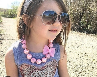 Cute Girls chunky bead Necklace for photo prop