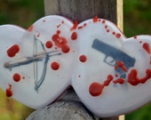 Walking Dead Soap - Hearts & Bloodshed Valentine Soap - Valentines Day Soap - AN AJSWEETSOAP EXCLUSIVE