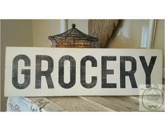 Handpainted Grocery Sign