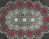 Oval Rose Doily Crochet PATTERN from a 1956 Workbasket a 12X18 inch doily pattern changed to PDF instant download
