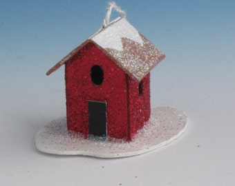 TINY RED HOUSE Ornament