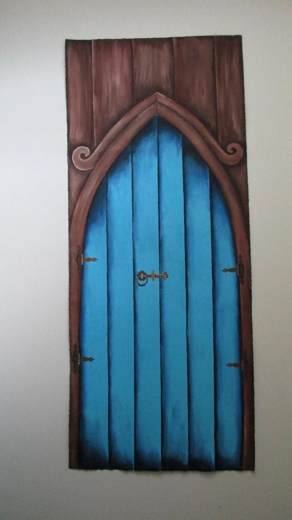 Fairy door life size fairy door fairy doors by for Painted fairy doors