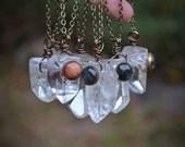 Quartz Point Necklace, Quartz Point, Labradorite, GoldStone,