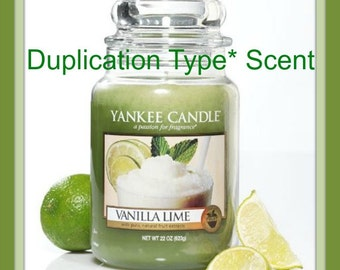 VANILLA LiME Scented Soy Wax Melts Tarts - YC Duplication Type* - Citrus - Refreshing - Rich - Highly Scented - Hand Poured Handmade In USA