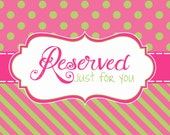 Custom Reserved listing for jennisisbarro
