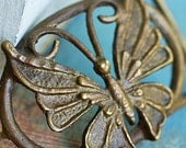vintage brass buckle  from an estate sale, accessories, coolvintage, collectibles, butterfly, looks great, 2018