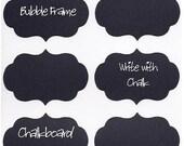 SALE- 12 Chalk Labels® Bubble Frame Style, Chalkboard Labels, Chalkboard Stickers, Mason Jar Labels