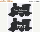 On SALE- Train Chalkboard Vinyl Labels - Organize and Personalize with Chalk Labels