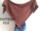 NeW PATTERN PDF - Pattern for DIY knitted Cavendish Wrap - Shawl - Cowl - Easy knitting Pattern - Instant Download