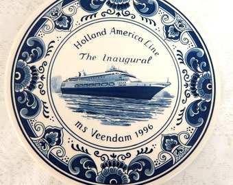 "Holland American Line The Inaugural"" MS Veendam 1996 with Certificate Box not available"