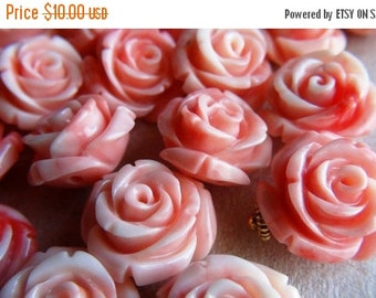 35% OFF Carved shell flower bead