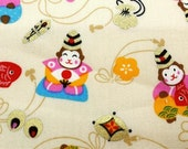 2663A - 2016 Lucky Monkey Fabric in Lt. Golden Rod Yellow, Animal Fabric, Metallic Print Fabric