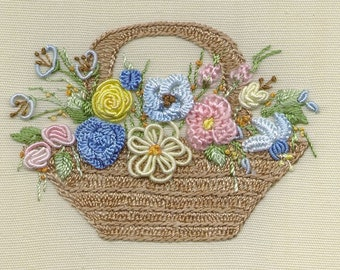 Country Basket Brazilian embroidery kit #1032 - EdMar threads/choose color