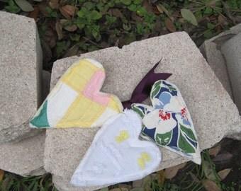 lavender sachets heart vintage patchwork