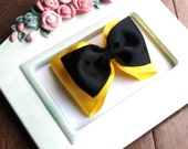 m2m Wiggles Emma's Yellow and Black Girls Hair Bow Clip Halloween costume prop