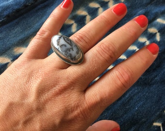 Reserved Dendritic Opal Ring-Sterling Silver