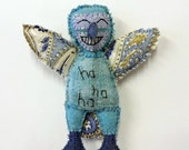 textile bird - bluebird of happiness 2