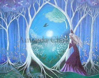 ART SALE!!   An original painting by Amanda Clark. Titled 'The Secret Garden'.