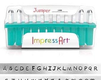 ImpressArt Beadsmith Juniper Uppercase Letter Stamp Set