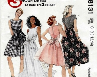 Misses' Easy Dresses - McCalls 8131 - Out of Print Sewing Pattern, Sizes 10, 12, and 14