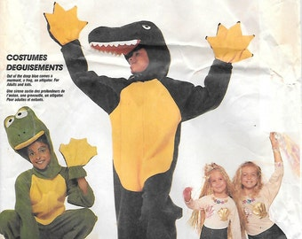 McCalls 3350 Adult Small Aligator Frog and Mermaid Sewing Pattern Bust 32-34 Holloween Costume Peter Pan