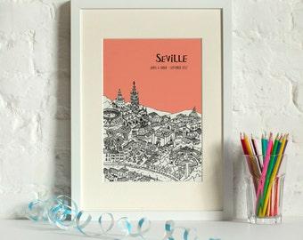 Personalised Seville Print