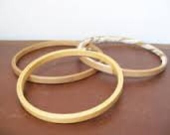 """7"""" Wood Embroidery Hoop Sold in sets of 3"""