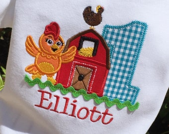 Girls Chica the Chicken  themed Birthday Shirt
