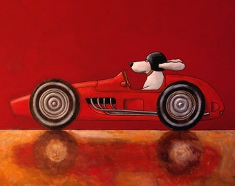 019 Ferrari 625 - folded art card 15x15cm/6x6inch with envelope