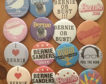 "PACK OF 10 - Assorted Bernie Sanders - 2 1/4"" button"