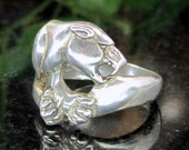 Reserved for Ziggie OTT STERLING PANTHER Ring Silver Figural Band 925 Size 8 1/4