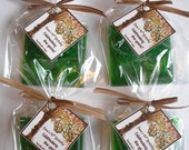 Tree of Life Family Tree Leaves Forest Shower Baptism 1st Communion Anniversary Favors Handmade Soap (20 complete favors with tags)