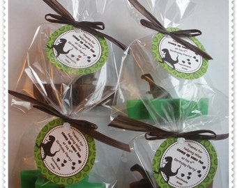 20 Dinosaur Soap Party Shower Favors (Tags Included)