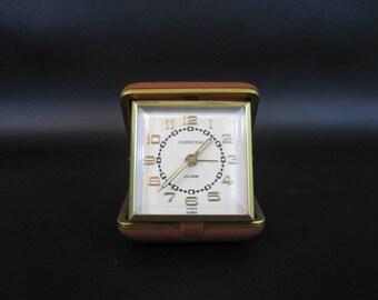 Vintage Overocean Travel Alarm Clock with Original Box. Circa 1960's.