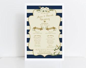Wedding Program Sign // Vintage Inspired Wedding Program // Nautical Programs // Program // Ceremony Sign