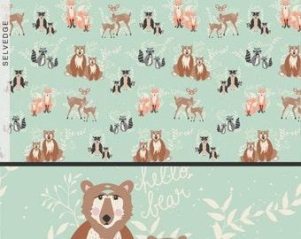 Hello Bear Oh Hello Meadow Art Gallery Fabric