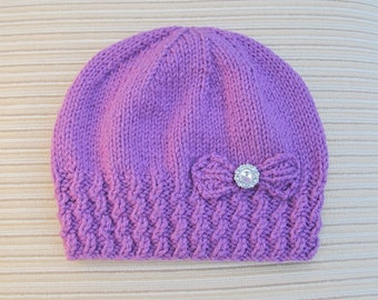"Instant Download #213 Knitting Pattern  Hat ""Leyla"" for a Lady"