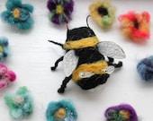 Needle felted Bumble Bee Pincushion