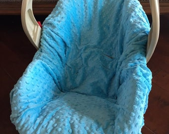 Aqua Minky Baby Car Seat Pad Liner - Chicco - Graco Snugride - Britax - Safety 1st - Or Choose Your Own Color
