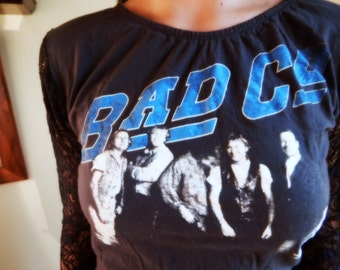 Upcycled Bad company Concert T shirt
