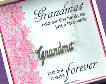 Grandmother Necklace, Gift For Grandma, Sterling Silver Necklace, Gift Boxed Necklace, Choose Your Lace Color
