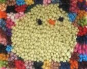 bird - latch hook rug pattern - pdf