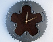 Recycled SRAM Bicycle Chainring Wall Clock