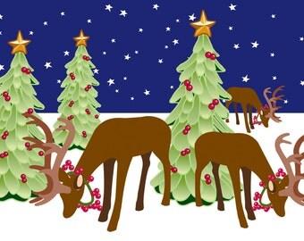 Holiday Card - Reindeer