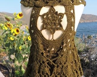 Seed of life crochet vest - mandala waistcoat